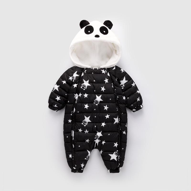 cd9608e6c156 Baby Rompers Winter Newborn Boys Girls Thick Warm Rompers Jumpsuit Clothing  Infant Bebe Cartoon Snowsuit Outfits Wear UK 2019 From Babyhouse3