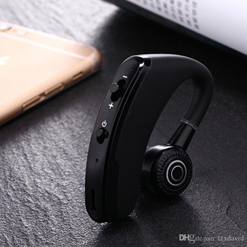고품질 V9 블루투스 헤드폰 CSR 4.1 비즈니스 스테레오 무선 이어폰 이어폰 헤드셋 패키지와 마이크 음성 제어