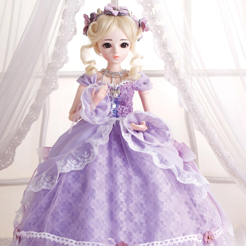 BJD 1 3 Girl Dolls With Dress Wigs Shoes Makeup 100% Handmade Beauty Toys  Silicone 18 Joint Girls Christmas Gift Dolls Cheap Dolls BJD 1 3 Girl Dolls  With ... 3411e6ce0d5c