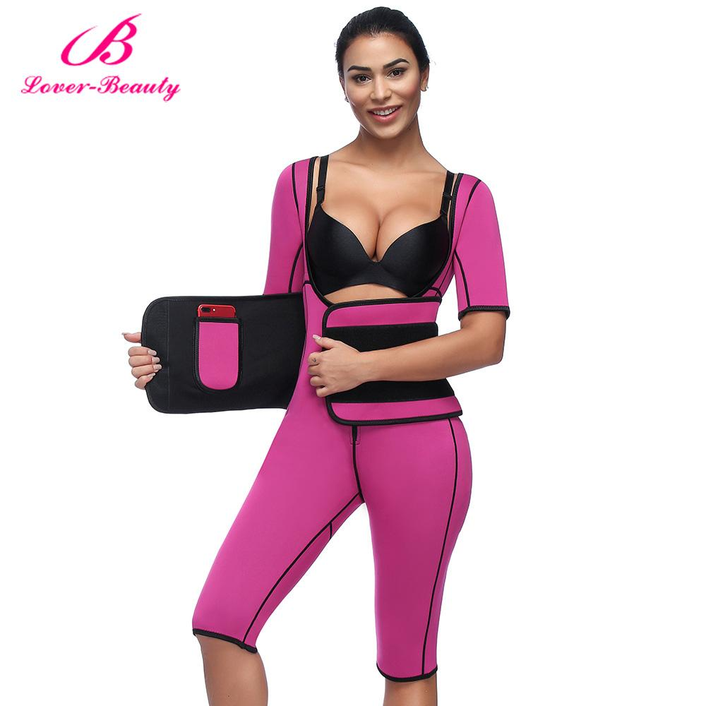 4c137192f0a92 2019 Lover Beauty Hot Shapers Bodysuit Sauna Suit Waist Trainer Corsets  Neoprene Body Shaper Women Slimming Full Shape Underwear C From Gloriana