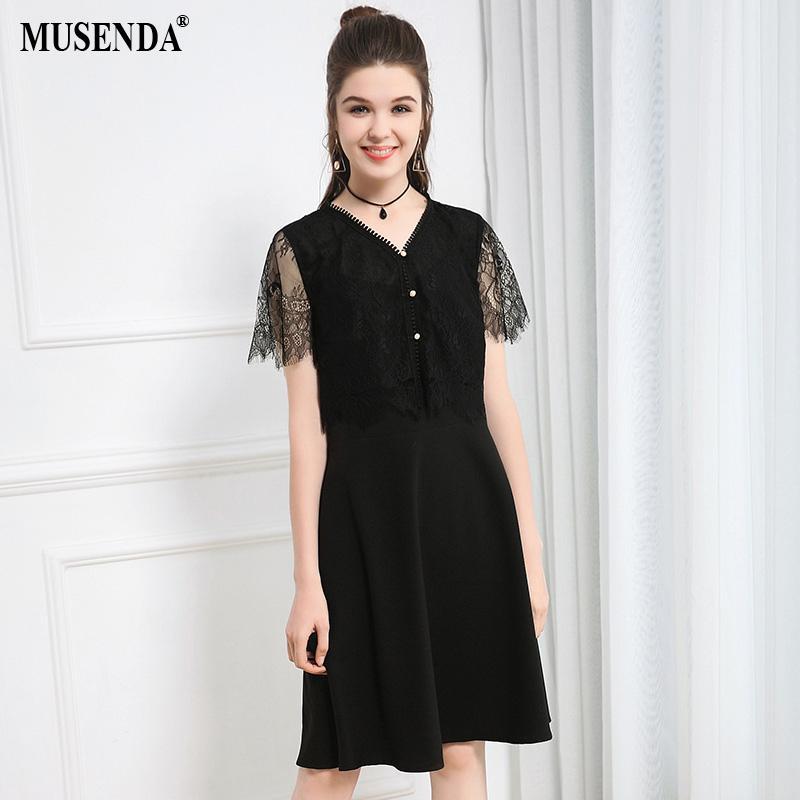2018 Wholesale Plus Size Women Black Hollow Out Lace Tops Chiffon