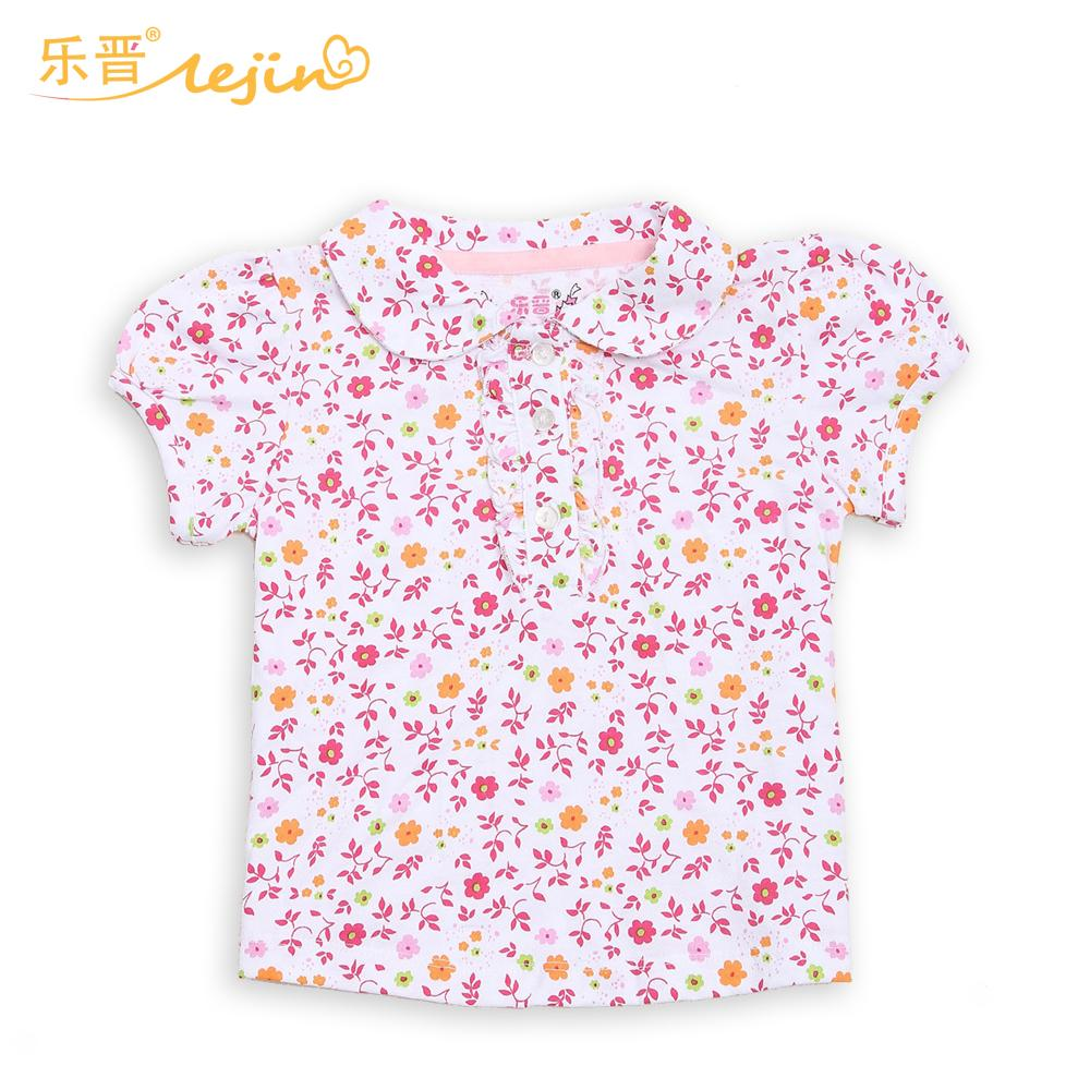 572e01637 LeJin Baby Girl Clothing 0-2 Years Girl Shirt Blouse Girls Shirt Tops  Infant Clothes Wear with Flower in Summer