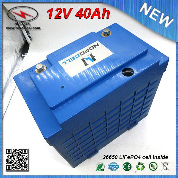 Lifepo4 12v 40ah Lithium Ion Battery Pack For Electric Bike Scooter