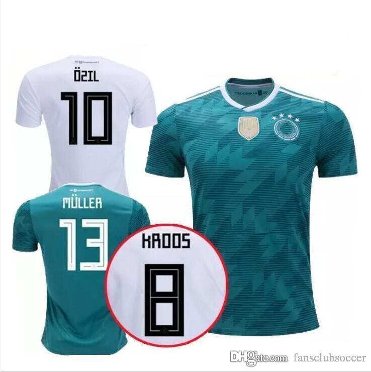 c7e079a5b2c6 S-2XL Germany Soccer Jerseys 2018 World Cup Home White Football ...