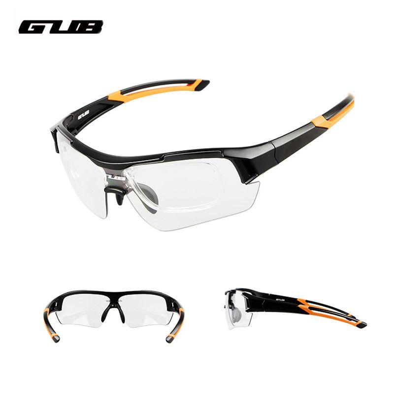 9ac26bb91e1 GUB Cycling Photochromic Bicycle Sun Glasses Discoloration Riding ...