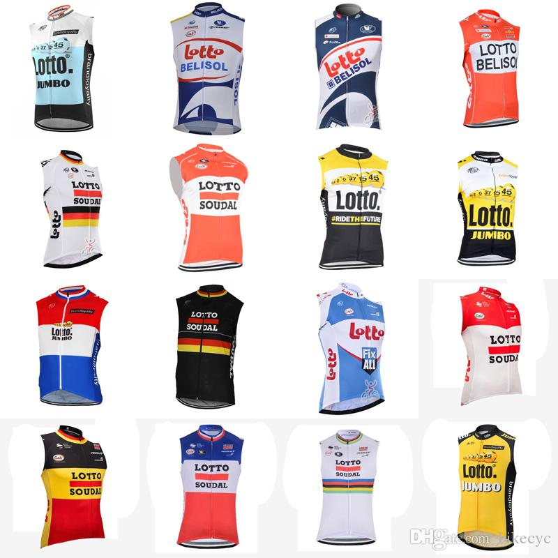 LOTTO Team Cycling Sleeveless Jersey Vest 2018 Hot High Quality Fashionable  Riding Bike Clothes Outdoor Breathable Ropa Ciclismo C2214 Cycling  Accessories ... 0a27b9056