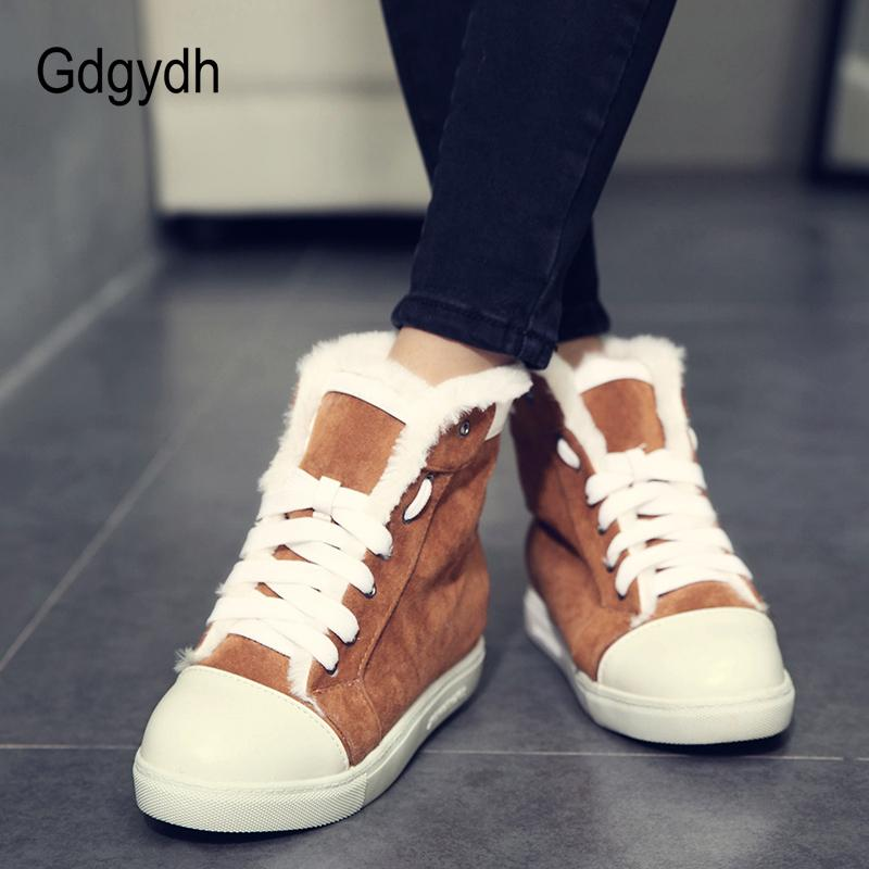 8554644b2 Gdgydh New Arrival Women Female Wedges Ankle Boots Winter Shoes ...
