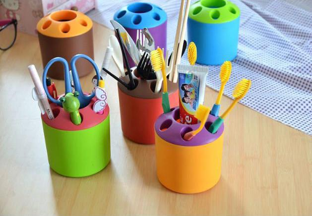 Pen Container School Supplies Wholsale Cute Penholder Plastic Material Cheap for School and Office Supplies Free Shipping
