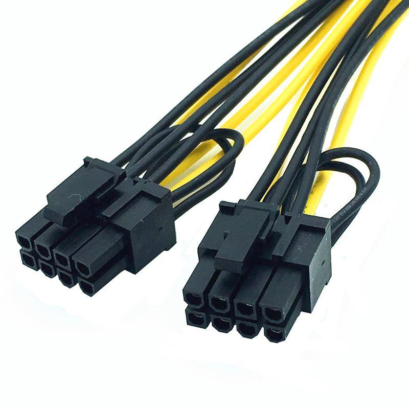 6 Zoll Molex 6-Pin PCI Express auf 2 x PCIe 8 6 + 2 Pin Motherboard Grafik Grafikkarte PCI-e GPU VGA Splitter Hub Stromkabel OTH812