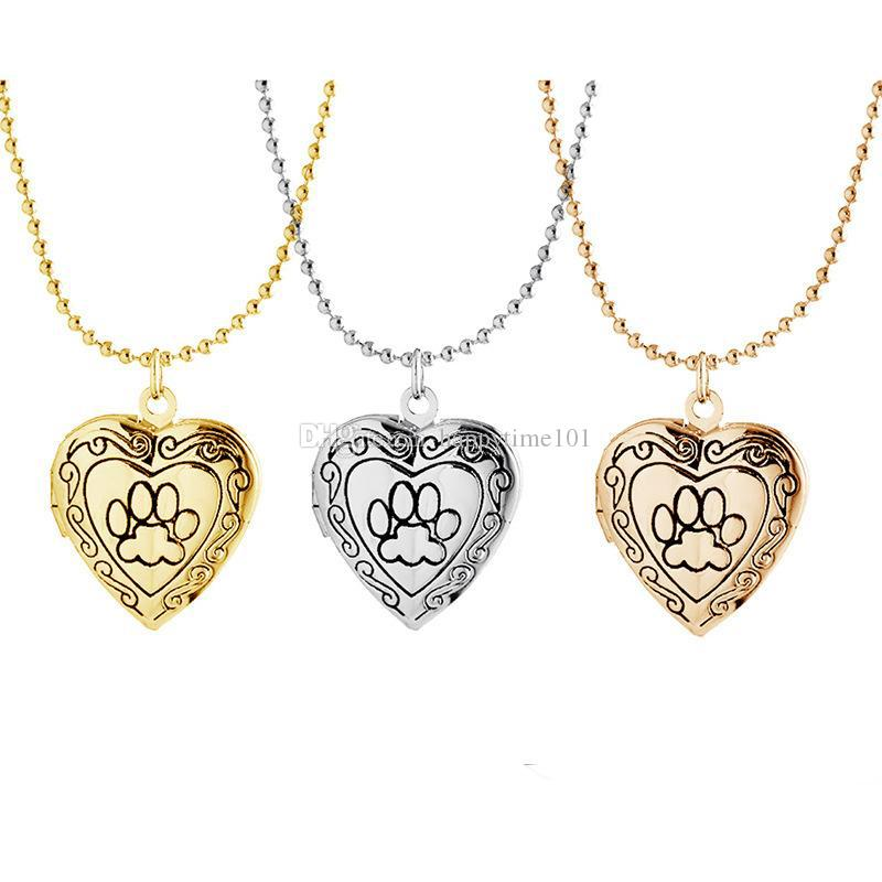 Wholesale Photo Frame Memory Locket Pendant Necklace Silver/Gold ...