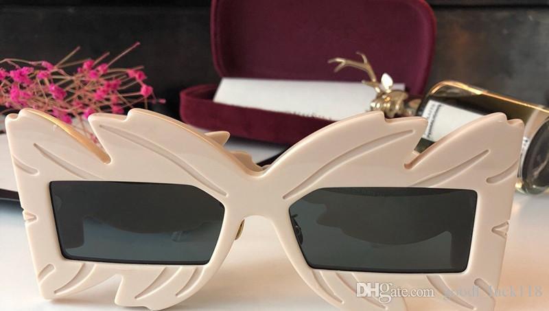 73c9996a6e3bc Compre Nuevas Gafas De Sol Acetato Negro Máscara Cuadrada Marco Popular  0429S Marco De Diseño Popular Protección UV Gafas De Sol Calidad Superior  Moda ...