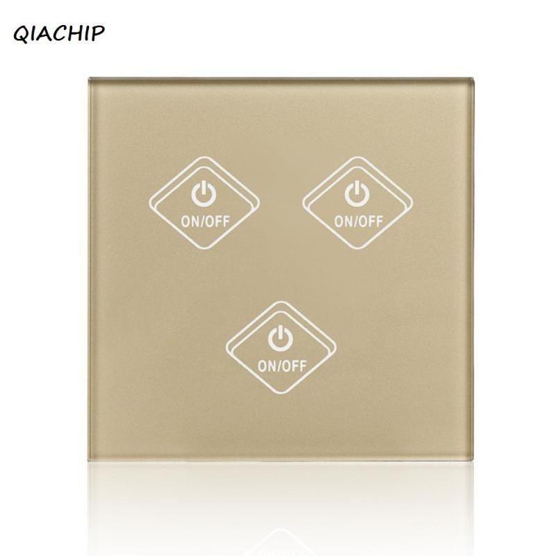 Qiachip Wifi Smart Switch Luxury Glass 3 Gang 3 Way Wireless Timing ...