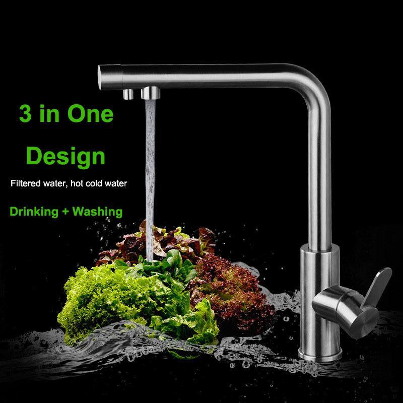 Brush Nickel 304 Stainless Steel Drinking Water Faucet Lead Free ...
