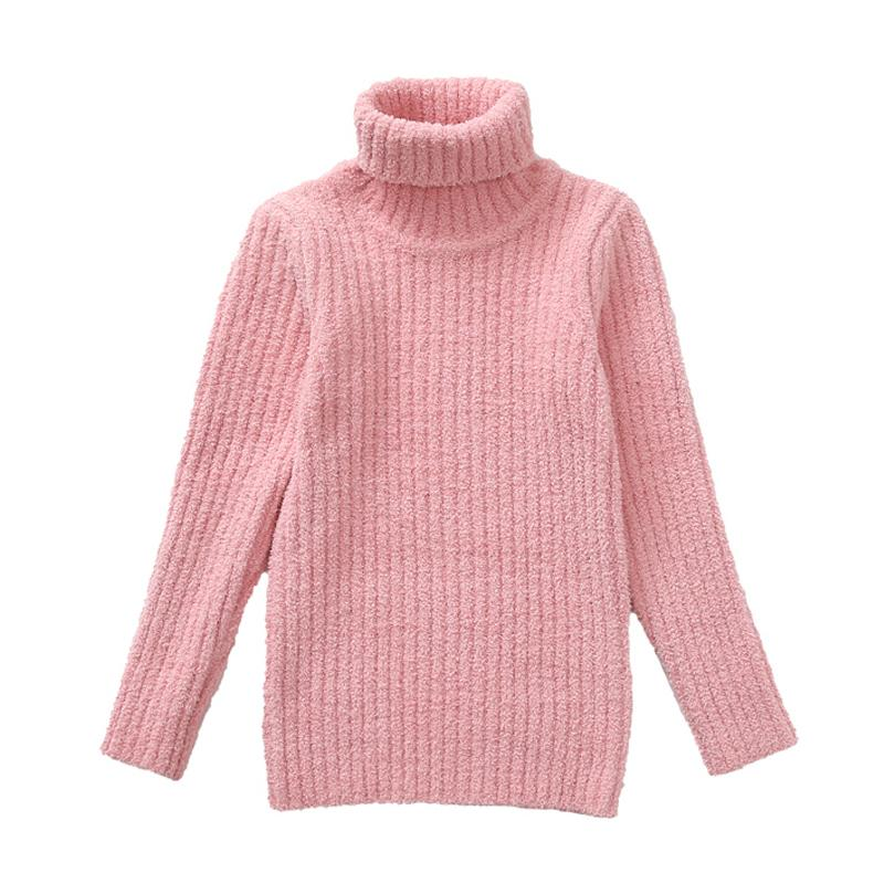 a7103bca1 Girls Sweaters Thick Turtleneck Sweaters For Baby Clothing Children ...