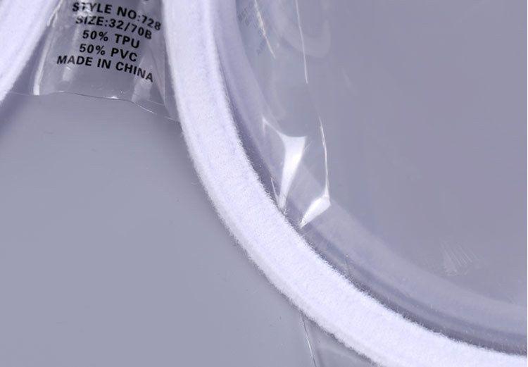 Kadınlar Seksi Push Up Lingerie Sütyen İç TPU PVC Şeffaf şeffaf Sutyen Ultra Ince Sapanlar Görünmez Sütyen