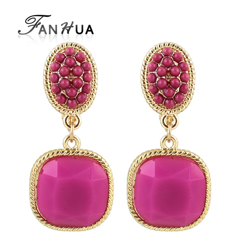FANHUA Ear Cuff Selected Clip Earrings Purple Jewelry Fashion Deisgner Brincos Women