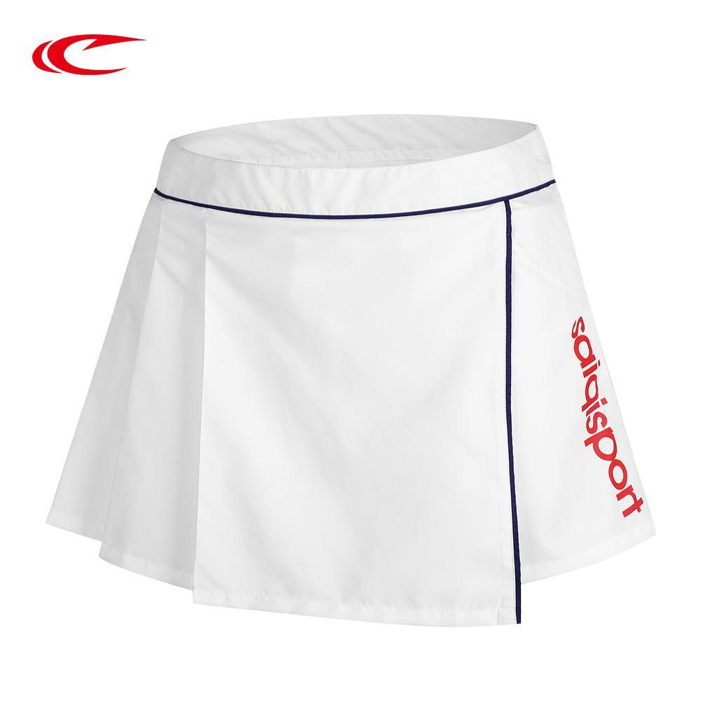 38c109713 SAIQI 2018 Faldas de deporte respirable para mujer Faldas de tenis Faldas  de bádminton Falda de tenis corta y delgada para niñas Negro
