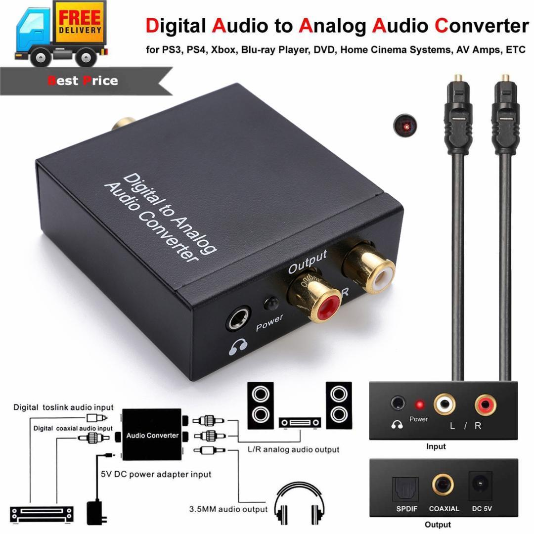 New Arrival Optical Coaxial Toslink Digital To Analog Audio Rca Converter Adapter With 35mm Jack Kits Mayitr Laptop Connection Tv Tablet Hdmi From