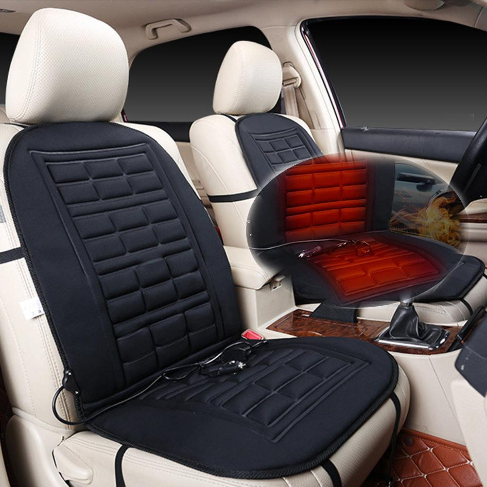 Heated Car Seat Cover Cushion Temperature Control Pad Winter Warmer Heater For SUV Replacement