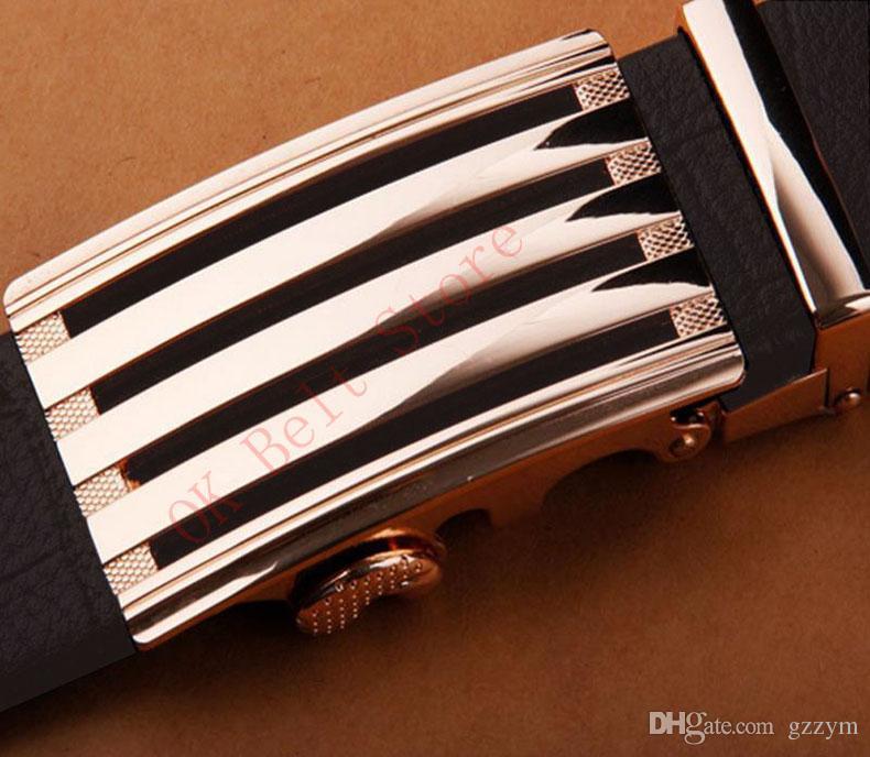 Hot Sale Designer Leather Strap Male Belt Automatic Buckle Belts For Men Girdle Wide Men Belt Waistband ceinture cinto masculino 130CM Aa29