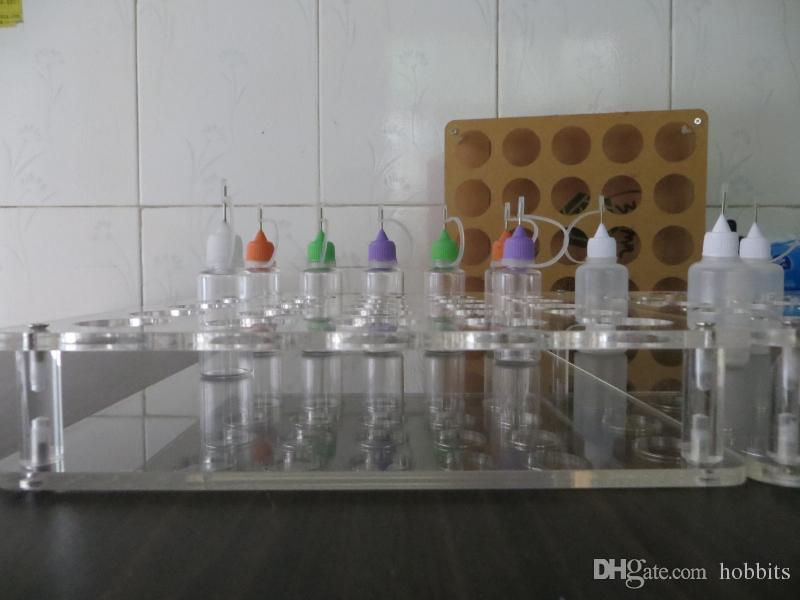 Acrylic e cig display showcase clear stand show shelf holder rack for 10ml 20ml 30ml 50ml e liquid eliquid e juice bottle needle bottle