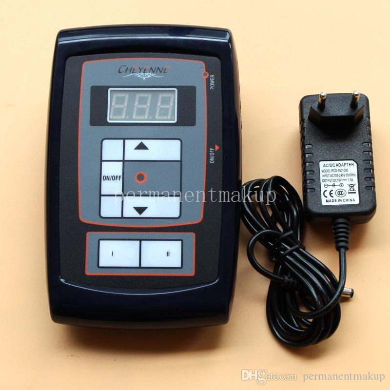 1 Pcs Power Supply with LCD Digital Display For Permanent Makeup Eyebrow Tattoo Machine Kit