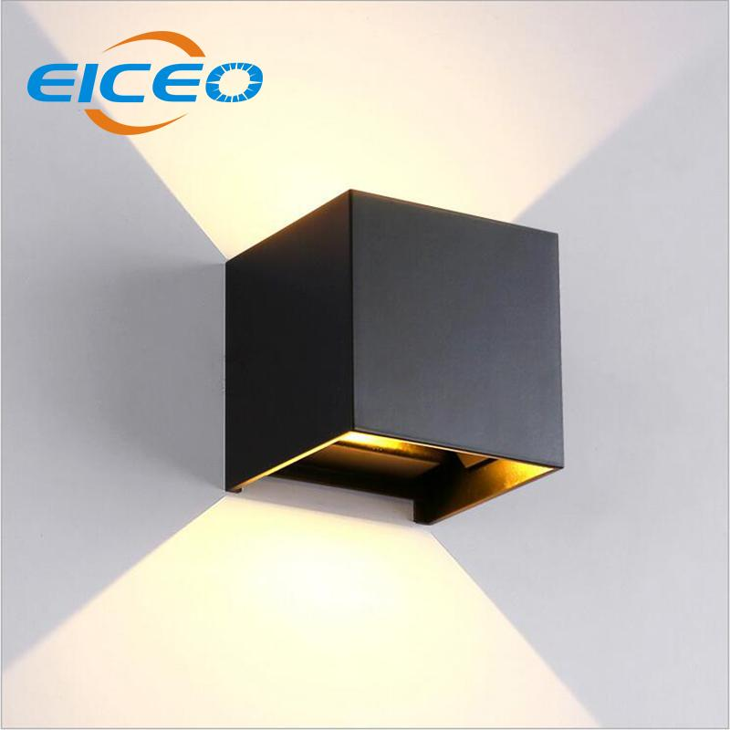 2018 Eiceo Ip65 Cube Adjule Surface Mounted Outdoor Led Lighting Wall Light Up And Down Lamp 6w From Burty 40 47 Dhgate Com