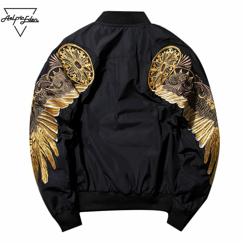 1d3434d508e Aelfric Eden Jackets Mens New Spring Multi Color Embroidery Bomber ...