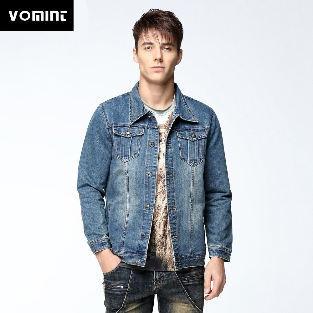 ca9b691aee6 Vomint Mens Denim Jacket Coat Short Sleeves Single Breasted Loose Fit Light  Blue Big Men Plus Size L 4XL 5XL 6XL 7XL V7S1C002 D18100802 Discount Mens  ...