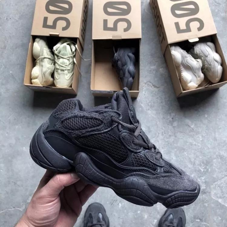 ef1045ef346 Kanye West x Adidas Yeezy 500 Desert Rat Utility Black Blush Runner  Trainers Mens And Women Retro Sneakers Top Quality Running Shoes Sport Shoes  Skechers ...