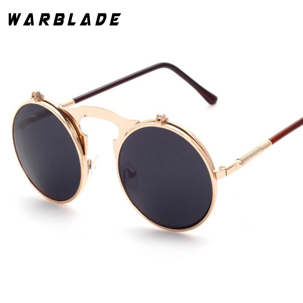 65931bc7b VINTAGE STEAMPUNK Sunglasses Round Designer Steam Punk Metal OCULOS De Sol  Women COATING SUNGLASSES Men Retro CIRCLE SUN GLASSES Super Sunglasses  Victoria ...