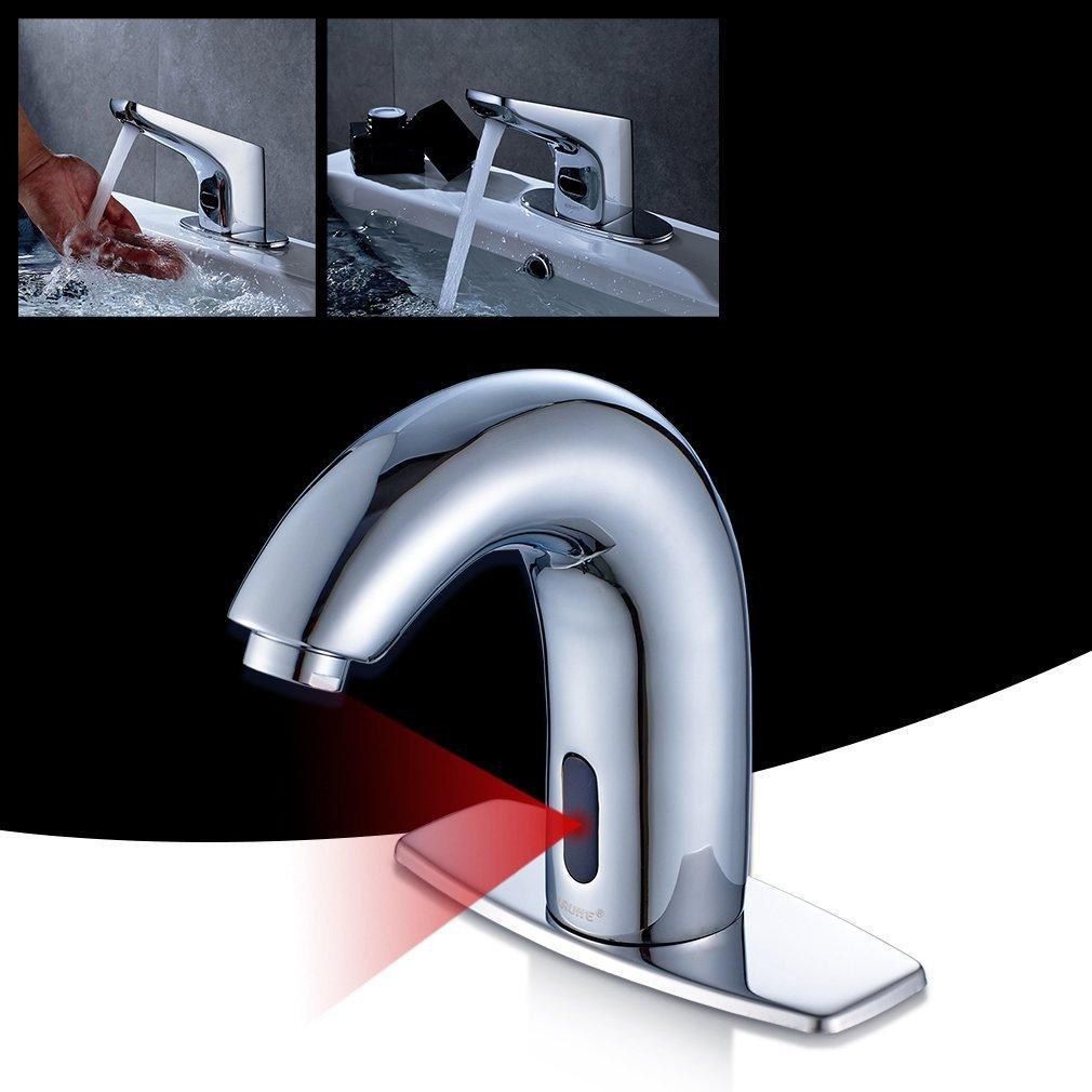 2018 Polished Automatic Sensor Sink Tap Copper Faucet Basin Mixer ...