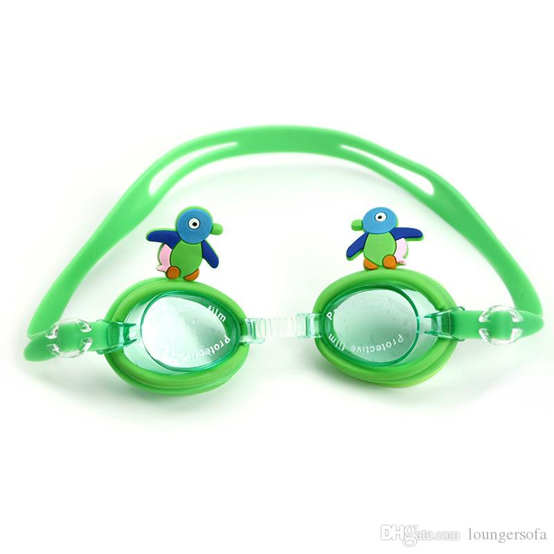 Cute Cartoon Children Goggles Anti Fog For Kids Boys Girls Swim Glasses Water Sports Baby Eyewear Silicone Mirror Ring 6bj Y