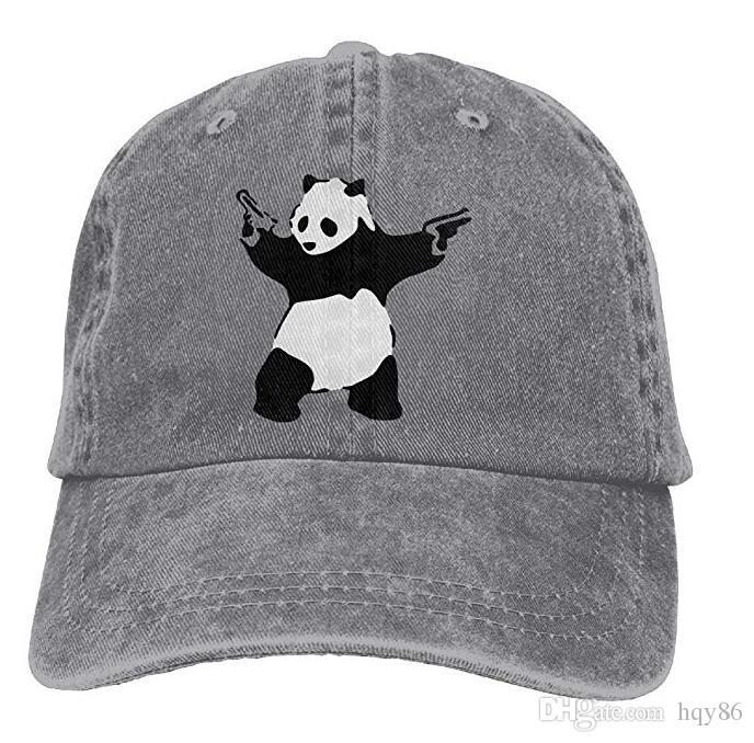 Panda Guns Banksy Adult Cowboy Hat Baseball Cap Adjustable Athletic Making Unique  Hat For Men And Women Newsboy Cap Trucker Hat From Hqy86 778816df112