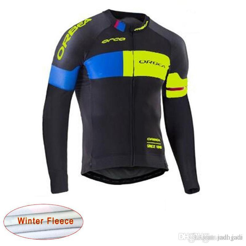 ef01d3bc8 2017 Orbea Cycling Clothing Long Sleeve Shirt Quick Dry Pro Cycling Thermal  Fleece Jersey Bicycle Clothes Maillot Ciclismo Sportswear D1102 ORBEA  Cycling ...