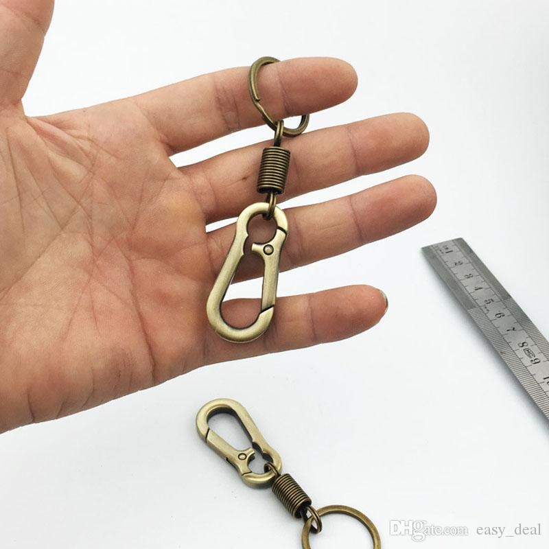 Stainless Steel Spring Gourd Buckle Belt Clip Loop Keychain Keyring Key Bicycle Bottle Holder Hook Bronze ZA5931