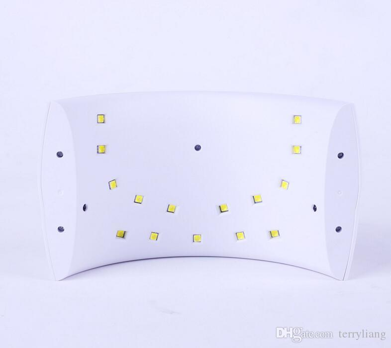 Professionista 24W SUN 9C Nail lampada a secco LED della luce UV dell'unghia del piede Dryer Polacco di unghia del gel di arte del salone Strumenti