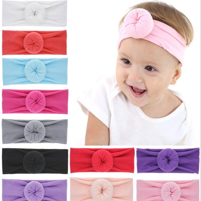 NEW Bebe Round Knot Headbands Elastic Wide Donut Hairwraps Fabric Cotton  Girls Nylon Turban Bows Hair Accessories FREE DHL LE154 Girls Hair  Accessories Set ... bb98b4c4628