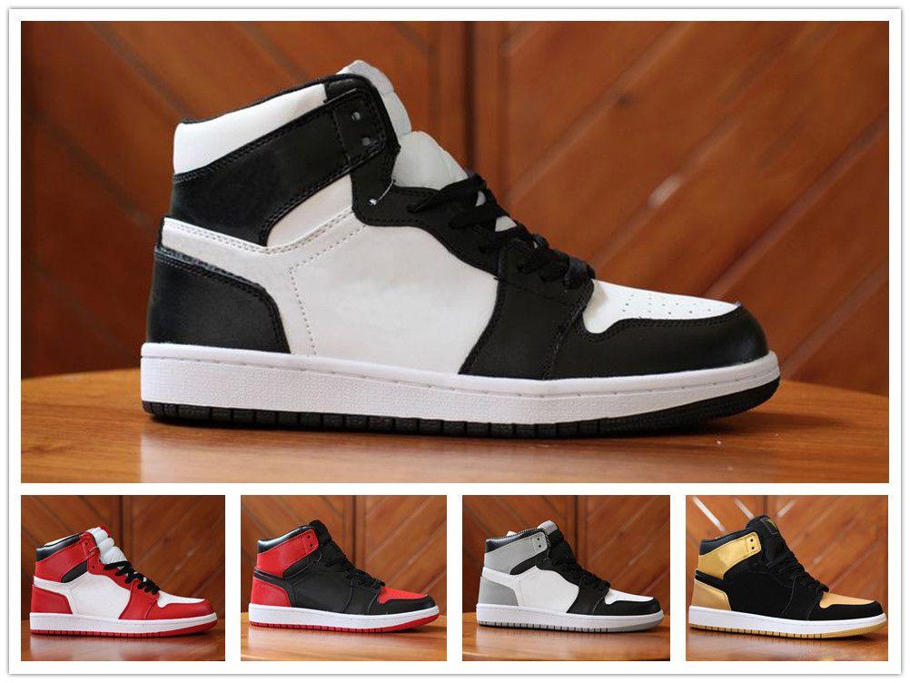 huge discount 67990 4580c Acheter Nike Air Jordan Aj1 NOUVEAU Chaussures De Basket Ball De Designer  Pour Hommes 1 OG Top Chicago 1S Baskets Mandarine Canard Baskets UNC Hommes  Sport ...
