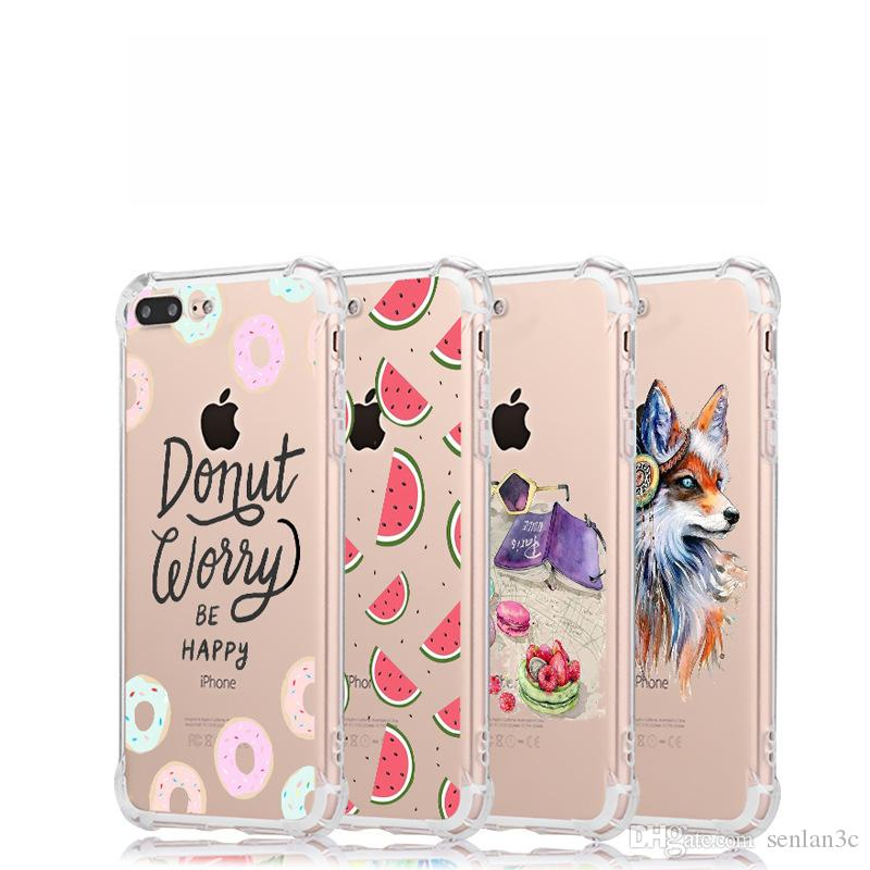 Customized Acceptable For iphone X XS MAX XR Case 7 8 Plus Shockproof  Printing TPU Anti Shock Back Cell Phone Case Cover