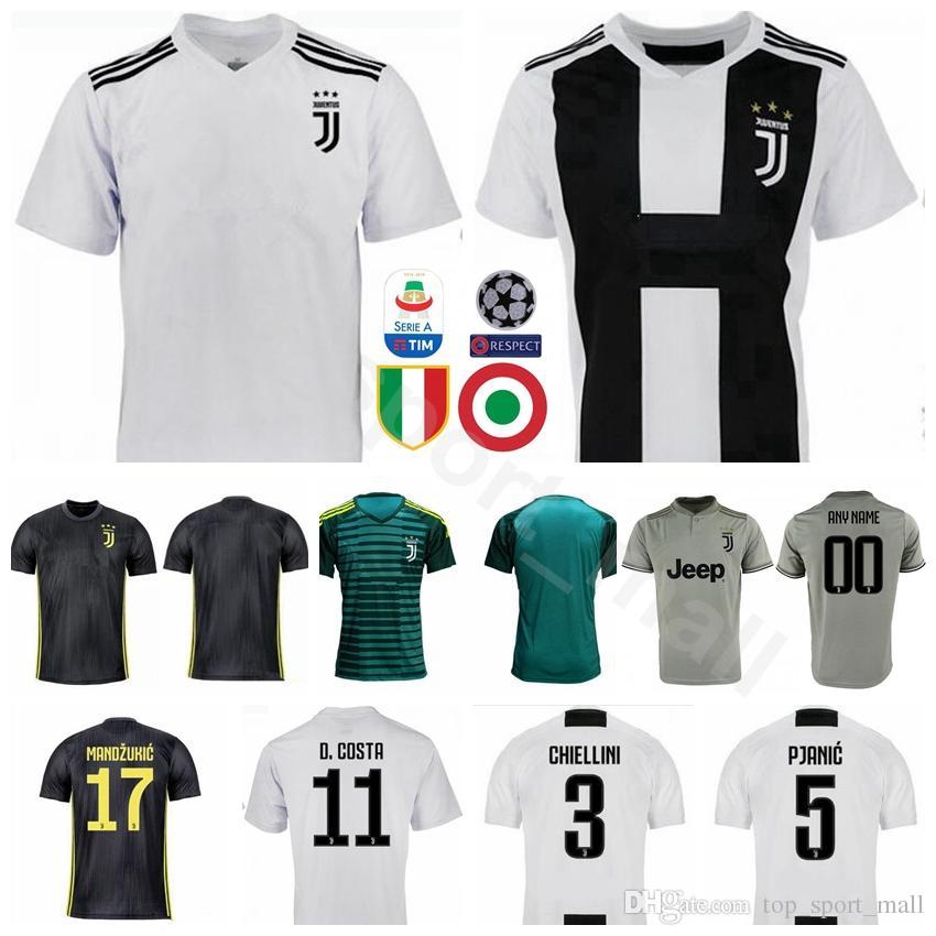 d541408fa219f 2018 2019 Soccer FC Juventus Jersey Hombres Equipo Blanco 20 CANCELO 5  PJANIC 6 KHEDIRA 11 COSTA 3 CHIELLINI Uniformes Kits De Fútbol Por  Vip sport