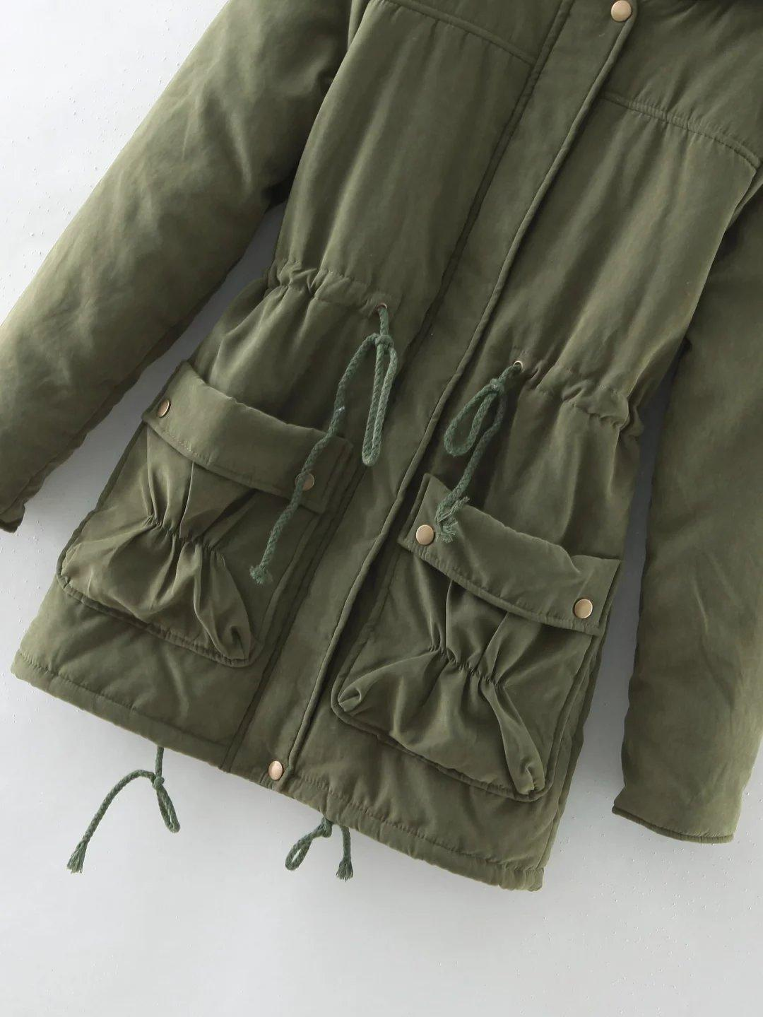 New 2017 Winter Women Jackets Cotton Padded Coat Medium Long Slim Hooded Parkas Casual Wadded Quilt Snow Outwear Warm Overcoat