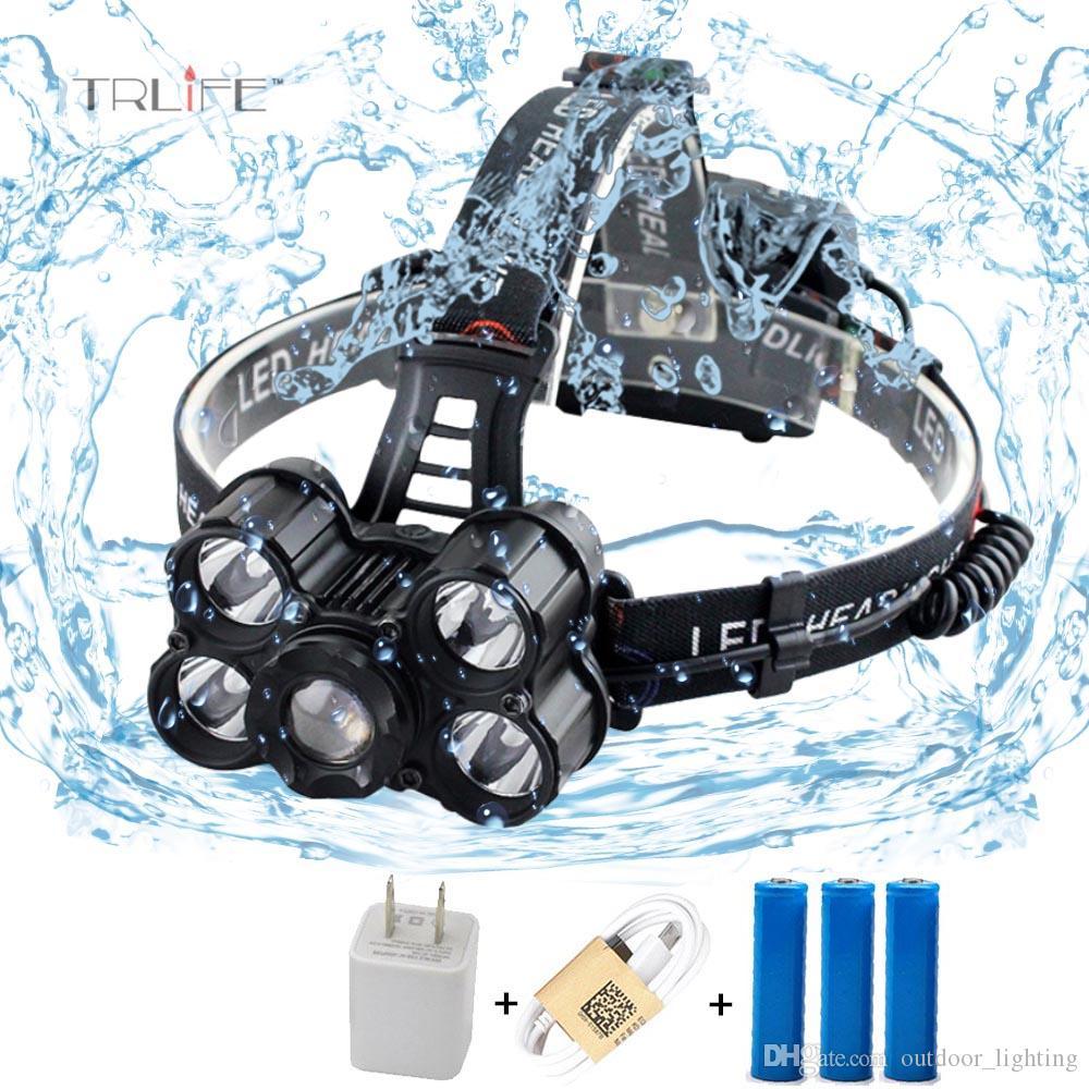 Batterie À 40000 Xml Led Pour Frontale Extérieure Rechargeable 3 18650 Lampe Zoomable Lumens 5Cree T6 NnkX8OP0w
