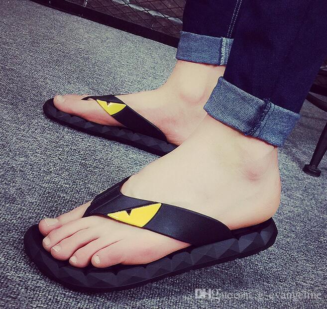 5748fbe6b45fa6 2018 Super Monster Men Slides Thick Soled Slippers Summer Platform ...