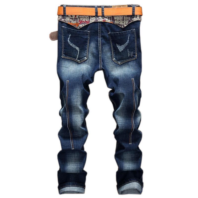 Acheter 2018 Nouveautés Jeans Hommes Bleu Jeans Homme Jambe Droite Stretchy  Classique Casual Denim Pantalon Homme Marque Célèbre Urban Pantalons Hommes  De ... 0754e2844d23