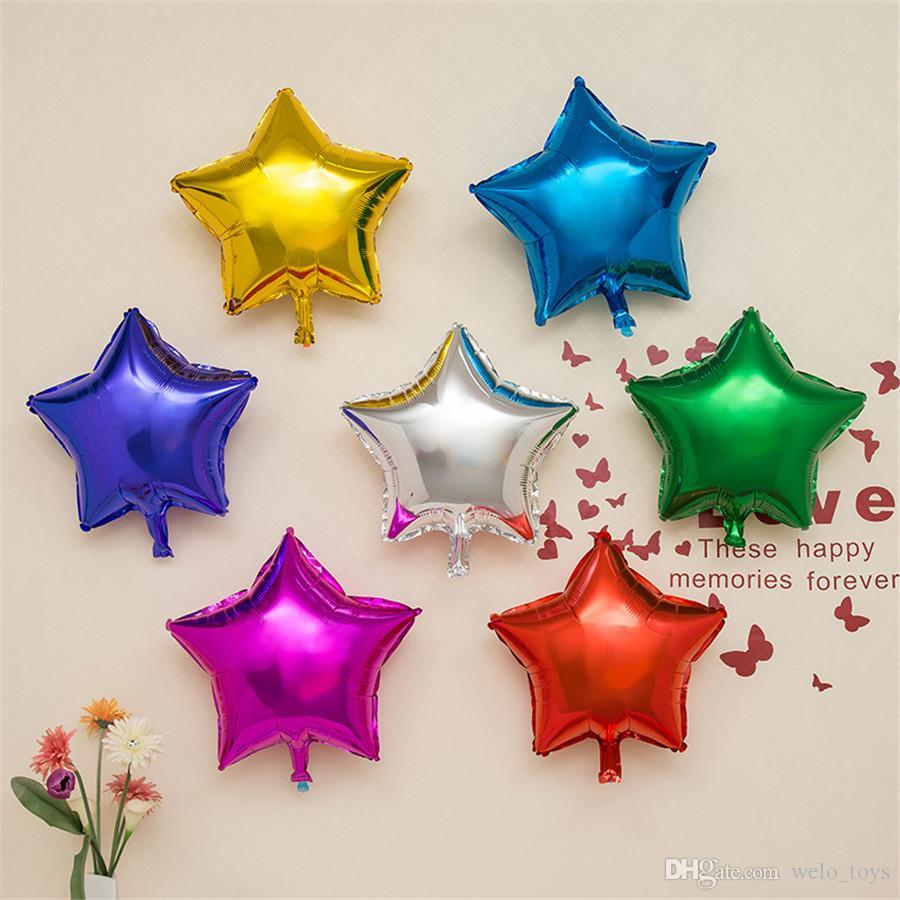 Декоративные звезды фольгированные шары 50 шт. / лот сладкий партия пятиконечная звезда шар день рождения свадьба событие праздничные атрибуты