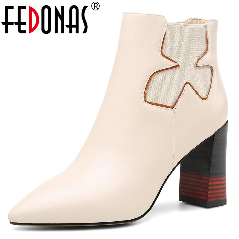 4b0748bc5ae7 Wholesale Top Quality Women High Heels Ankle Boots Genuine Leather Warm  Basic Boots Sexy Pointed Toe Short Martin Shoes Woman Wedge Boots  Waterproof Boots ...