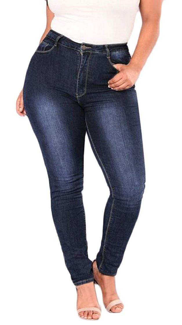 6915c8b9c5c61 2019 Womens High Waist Jeans Plus Size Denim Pants Jeans Trouser Big And  Tall From Happyli2017