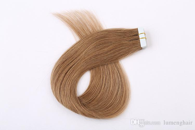 14 Remy Human Tape Hair Extensions Skin Weft Remy Hair Extensions