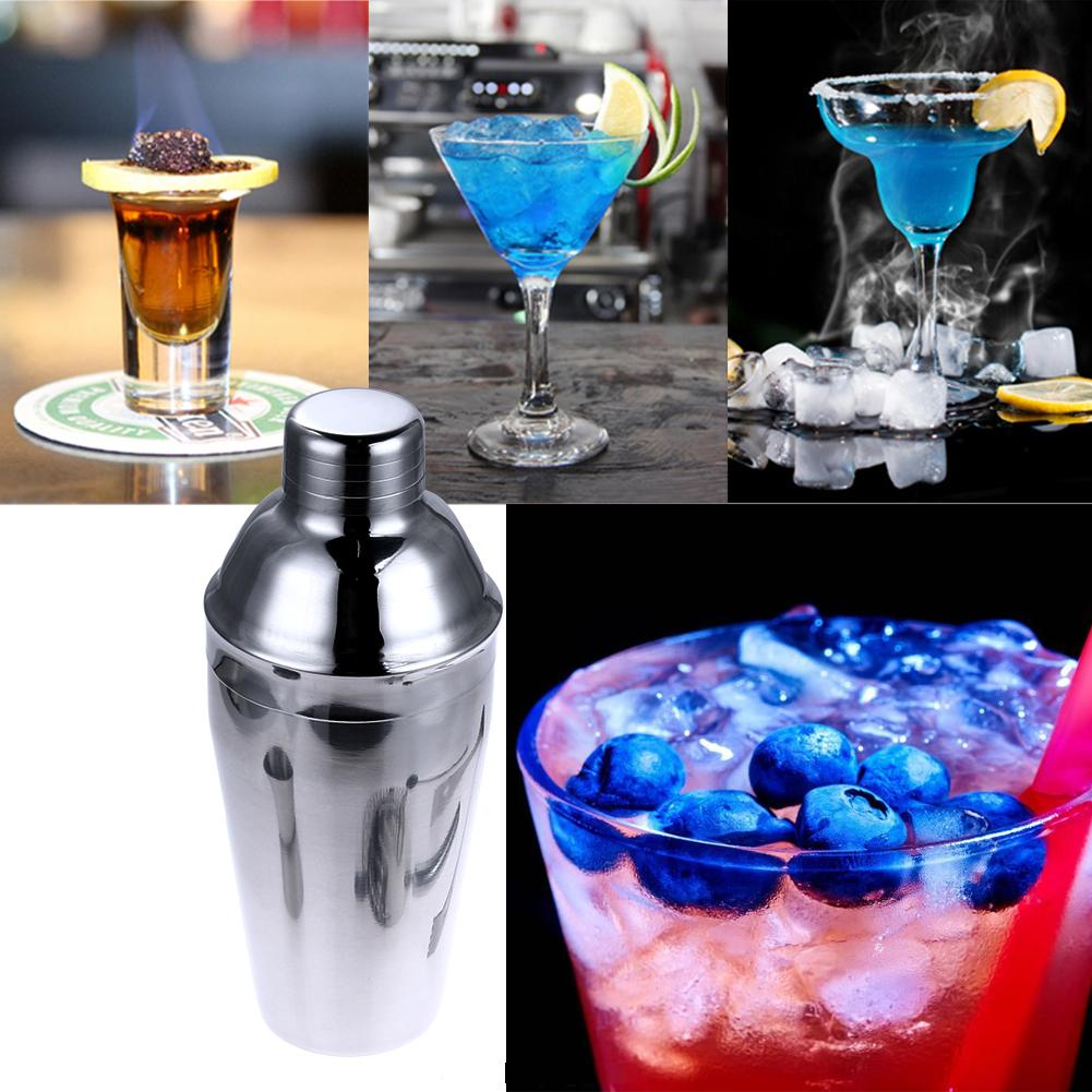550ml Stainless Steel Cocktail Drink Shaker Mixer Drink Mixer High Quality  Cocktail Bar Accessories For Party Bar